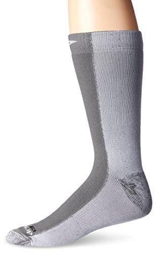 Drymax Cold Weather Run Crew Socks, Grey, Small (W5-7 / M3.5-5.5)