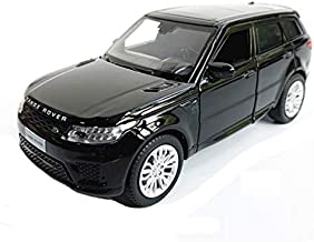 GAOQUN-TOY 1:32 Alloy Die-cast Model Car/Compatible with Land Rover Range Rover Sport/Sound and Light Off-Road Vehicle Model Birthday Collection Decoration (Color : Black)