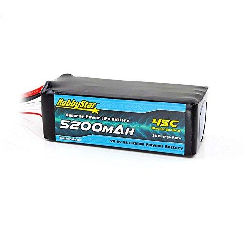 HobbyStar 5200mAh 29.6V, 8S 45C LiPo Battery, XT90 Plug