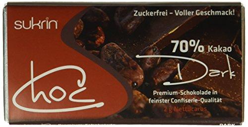 """SUKRIN Schokolade """"Choc dark"""" (1 x 60 g)"""
