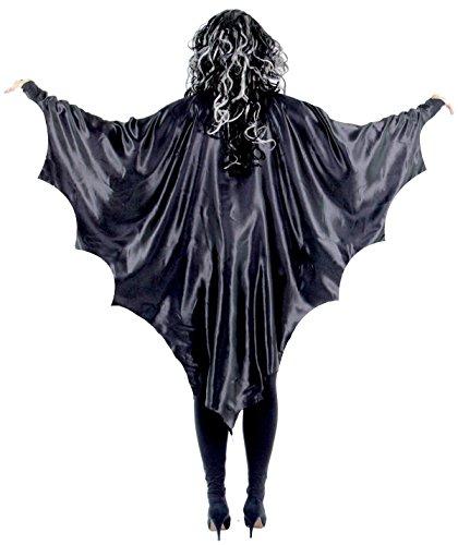 Schwarze Vampirflügel für Kinder - Fledermaus Flügel Fledermausflügel Vampir Cape Umhang Halloween Horror Blutsauger