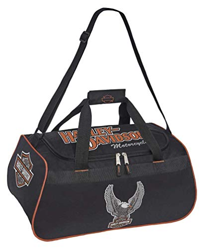 Harley-Davidson Winged Eagle B&S Sports Duffel Bag w/Adjustable Strap - Black