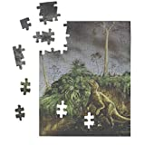 Jigsaw Puzzles for Adults & Kids Edmontosaurus in A Storm Old Poster Home Decor Wall Art 110 Pcs