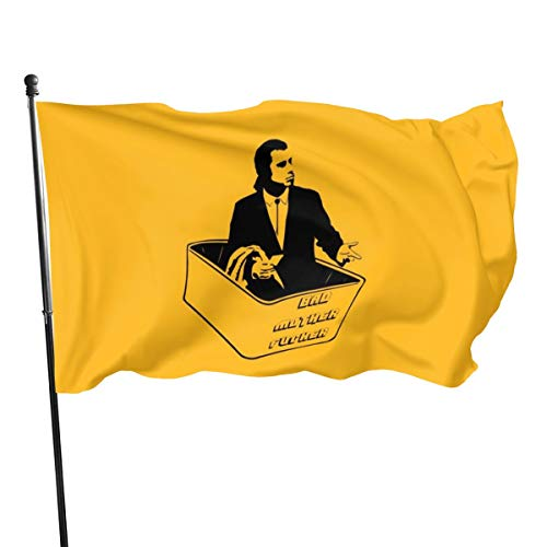 N / John Travolta Confused Leere Geldbörse Flagge Banner Flaggen, 91 x 152 cm