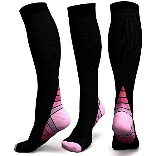 Chaussettes de compression (différentes couleurs) (Rose, L/XL)