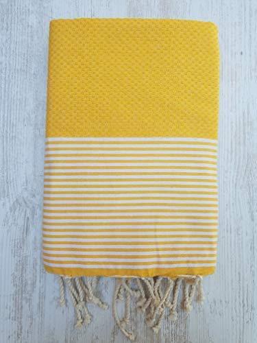 Miami FOUTA, Hochwertiges FOUTA Handtuch - Größe XL 170x130 cm - 100prozent Baumwolle - 380 Gramm - Weich, glatt, leicht & sehr saugfähig - Strandtuch, Sofabezug, Tischdecke, Tagesdecke, Sarong