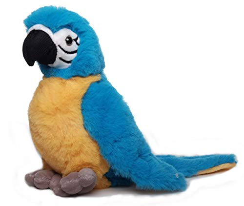 Inware 7497 - Kuscheltier Papagei Peter, blau/gelb, 20 cm, Schmusetier, Plüschtier