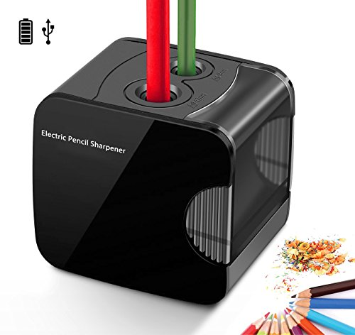 Electric Pencil Sharpener, Powered By USB or Battery Operated Heavy Duty Automatic Electronic Pencil Sharpener For No.2 And Colored Pencil