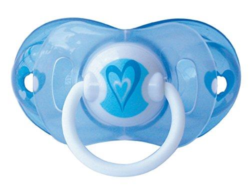 Chupete inteligente de látex cerezo Perfil tamaño 1(de 0a 6meses), color azul