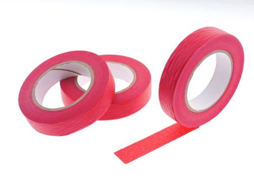 """3pk 1"""" x 60 yd Red Painters Tape PROFESSIONAL Grade Fine Masking Pin Stripping Edge Trim Multi Surface Easy Removal (24MM .94 in)"""