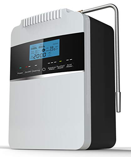 Water Purifier Machine Water Ionizer ORP+500 to -800 PH 2.5-11.2 Alkaline Acid Water Best Home Alkaline Water Filtration System/Instant heating58-136.4 °F/12,000 Liters Per Filter / 7 Water Settings