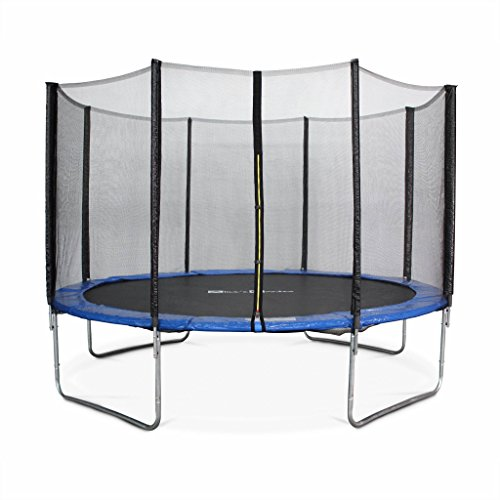 Photo de trampoline-o370cm-saturne-bleu-avec-son-filet-de