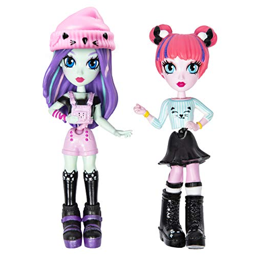 Off the Hook Style BFFs, Brooklyn & Alexis (Concert), 4' Small Dolls with Mix & Match Fashions & Accessories, for Girls Aged 5 & Up