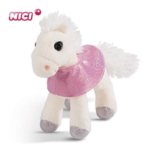 NICI knuffeldier paard White Peach 16 cm – pluche dier paard voor meisjes, jongens en baby's – pluizig knuffeldier om te knuffelen, spelen en slapen – gezellige knuffeldier voor elke leeftijd – 44895