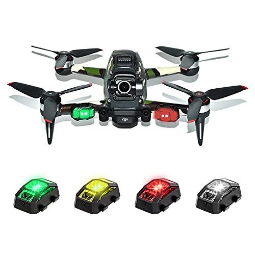 Drone Lights, FAA 107.29 Drone Strobe for Night Anti Collision, 4 Colors/3 Modes Drone Strobe Lights for Drone DJI FPV Mini Inspire 1 2 Phantom Mavic Pro AIR Typhoon H Yuneec Matrice Quadcopter UAS