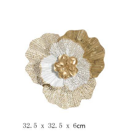 YUELI Decoración De Pared De Flores Huecas Europeas 3D Estéreo De Hierro Forjado Colgante De Pared Sofá Casero Fondo Etiqueta De La Pared Mural, Multicolor