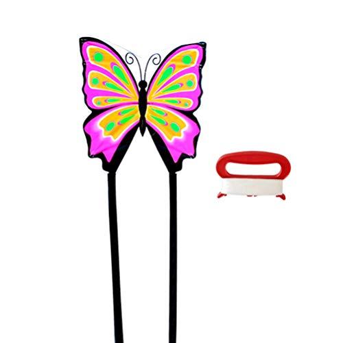 Wakauto Schmetterlingsdrachen Single Line Easy Fly Drachen für Kinder Erwachsene Outdoor-Spiel Hochwertige Stoffdrachen mit Langem Schwanz Und 30 cm Schnur für Rasen Hügel Hof