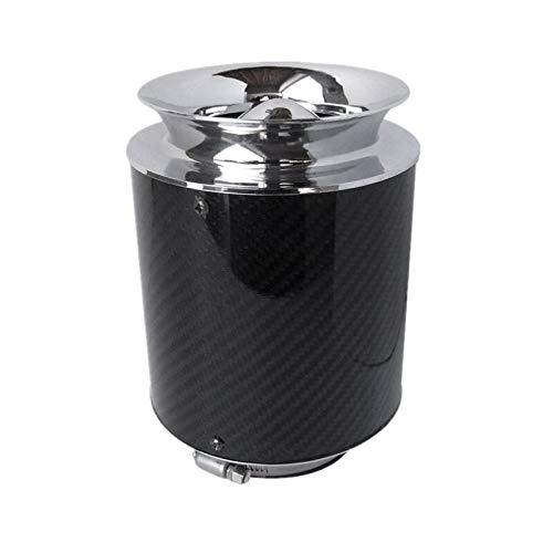 QREAEDZ Interfaz de Aire Filtros de Aire de Fibra de Carbono de Alto Rendimiento del Aire frío del Filtro de Aire del Coche de competición Filter76MM (Color : Large)