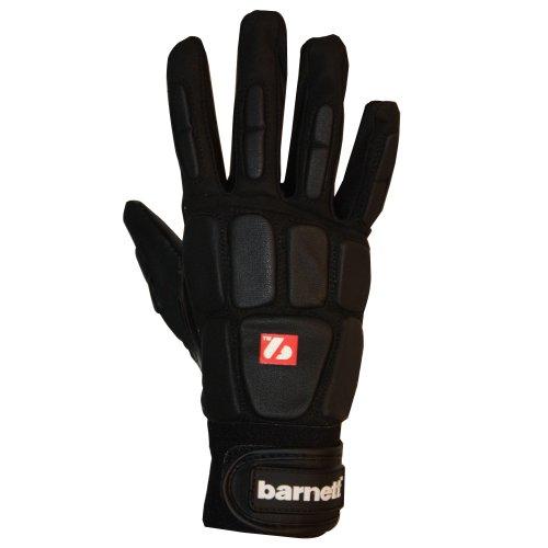 BARNETT FKG-03 American Football Handschuhe Linebacker Profi, LB,RB,TE SCHWARZ (2XL)