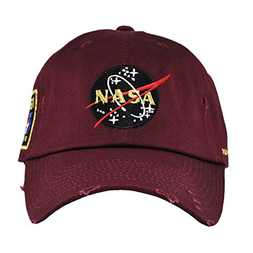 FIELD GRADE Skylab NASA Hat Special Edition Patch (Burgundy Distressed)