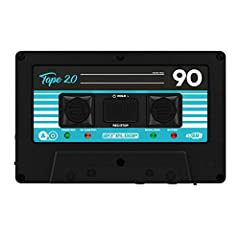 Portable audio recorder with retro tape design Integrated rechargeable Li-Ion battery with up to 6 hours of active recording Simple recording in 24-bit as WAV or MP3 Connect to a computer and use as a card reader for microSD cards Enclosed sticker se...