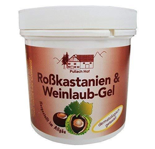 3 x 250ml Roßkastanien und Weinlaub-Gel vom Pullach Hof, Roßkastanien-Balsam