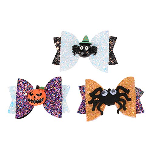 Balacoo 3 Piezas de Horquillas para El Pelo de Halloween Horquillas para El Pelo de Halloween Horquillas para El Pelo Horquillas para El Pelo de Grogrén Broches de Flores para Niñas