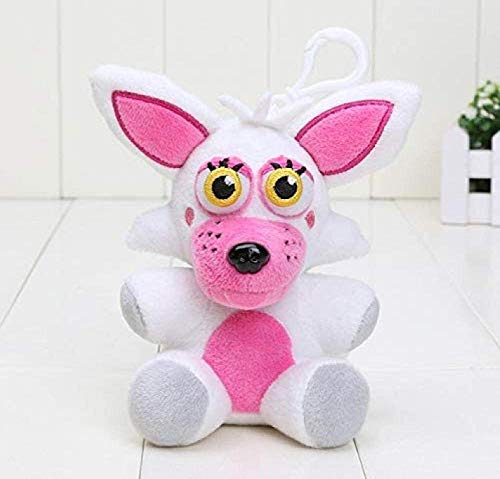 14Cm Five Nights At Freddy S Pendant Dolls FNAF Freddy Bear Mangle Foxy Chica Soft Filled Keychains Knuffel Kids Gifts 14cm White Mangle