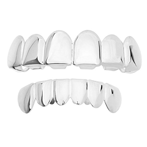 Iced Out Grillz - Silber - *One Size fits All* - Set