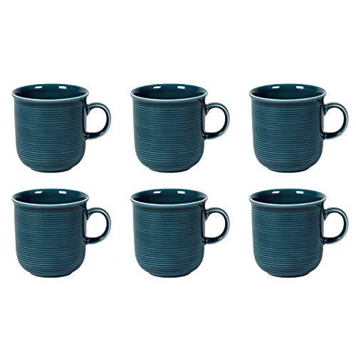 Thomas Trend Colour Kaffeebecher mit Henkel 280 ml, Porzellan, Night Blue (6 Stück)
