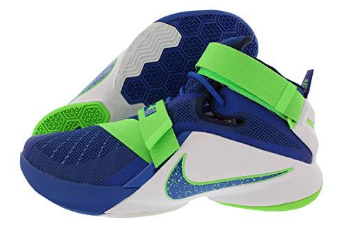 Nike Lebron Soldier IX Zapatillas de baloncesto del hombre, (Game Royal/White/Green Strike), 10 M US