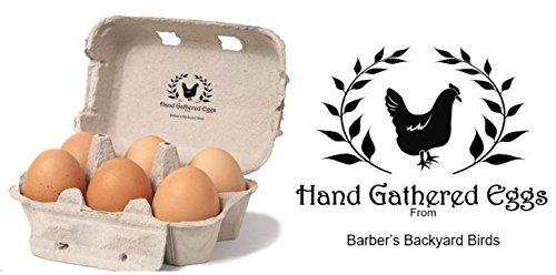 "Hand Gathered - Personalized Egg Box - self inking stamp - 2 1/4"" x 1 1/2"""