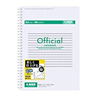アピカ オフィシャル副線入りリングノート(セミB5判・40枚) FSW4AZ 1包(10冊)