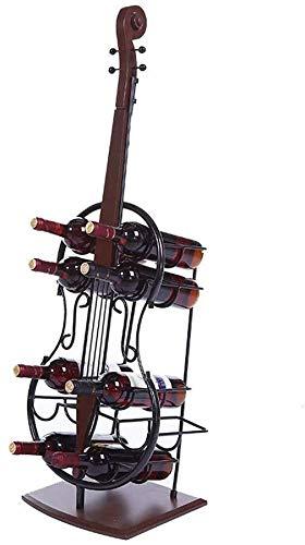 Estantería de vino Wine Rack 10 exhibición de la botella de vino en rack de soporte for suelo Tall botella de vino titular de almacenamiento en rack Inicio Bodega Hierro estante de vino pequeño