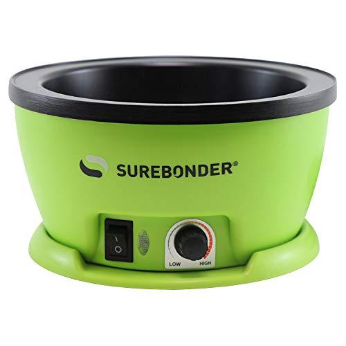 Surebonder Electric Hot Glue Skillet, Adjustable Temperature 225-400 F, 5-1/4 Diameter, 1-in Depth, Dip Crafts Directly Into Pot of Hot Glue (803)