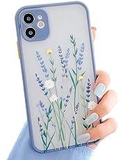 Funda Para iPhone 12 Mini,Carcasa Patrón de Flores Transparente Suave TPU Silicona Funda Floral Para Mujer Gel Bumper Anti-Rasguños Ultra Fina Protección Caso Para iPhone 12 Mini