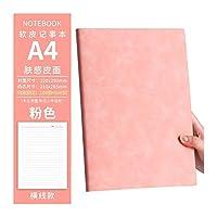 太い柔らかい革の日記ノートブック裏地の空白のビジネスオフィス大型ノートブックアジェンダオーガナイザーノートブック (Color : Dark Grey, Size : Horizontal line)