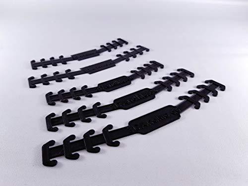 (Alltags-) Maskenhalter; 10 Stück; verschiedene Größen; dünn; bequem (schwarz, L (22,0 cm))