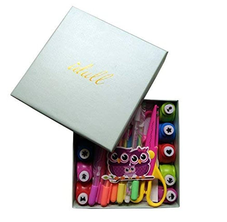 IDULL Scrapbooking Supplies Kits with Colorful Pens, Stickers, Paper Punchs for Children
