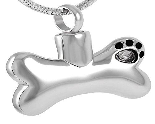 Casket Etcetera DOG BONE II Pet Cremation Jewelry Urn Necklace