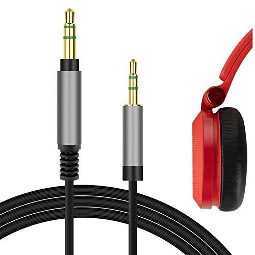 Geekria QuickFit Audio Cable de Repuesto para Auriculares JBL E45BT E50BT E55BT E35 E40 E40BT, JBL E65BTNC, Tune 600BTNC, Macho de 2,5 mm a 3,5 mm, Funciona con 3,5 mm Dispositivos (Negro,1.7M