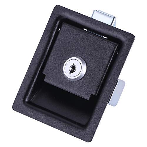 KASD Cerradura de Seguridad, Cerrojo de Seguridad con Revestimiento Negro de garantía de Calidad Fuerte para Armario eléctrico