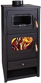 Estufa de leña de Metalic con horno quemador de