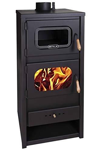 Estufa leña Metalic horno quemador leña, chimenea