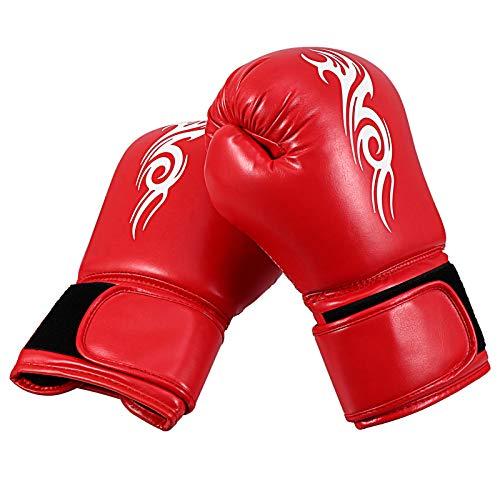 BESPORTBLE Vermelho Luvas de Treinamento Luvas de Boxe MMA Treinamento de Boxe Luvas de Couro E Poliéster Profeshional Mitts Punching Bag Mitts para Crianças Com Homens Mulheres
