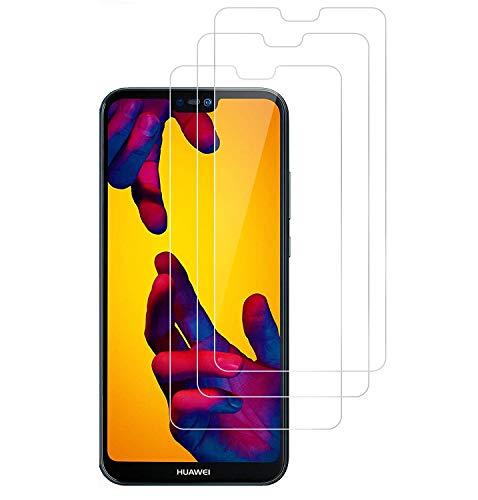 3 Pezzi Vetro Temperato Huawei P20 Lite, WEOFUN Pellicola Protettiva per Huawei P20 Lite Display Proteggi Schermo 5.84'' (0,33mm, 9H, Alta trasparente) [NON Per Huawei P20 Pro/ P20/ P20 Pro]