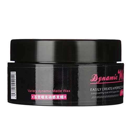 Arcilla para el cabello, 100 g Crema para el cabello suave, esponjosa y resistente de larga duración, natural, de alto brillo para peinar el cabello