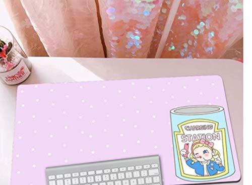 Alfombrilla De Ratón Grande Para Juegos, Goma Duradera, Carita Feliz, Texto Simple, Fondo Verde, Alfombrilla Portátil Para Juegos De Computadora Portátil