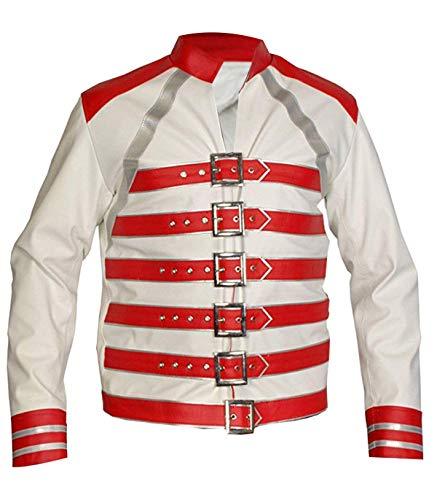 Fashion_First Disfraz de Freddie Mercury Wembley para hombre con correa militar para conciertos
