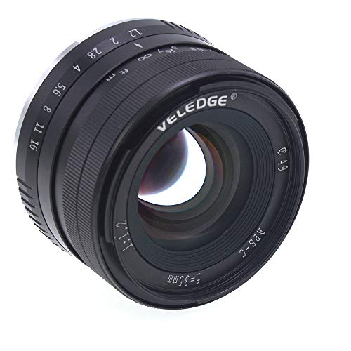 MeterMall Useful VELEDGE 35mm F1.2 Large Aperture Prime APS-C Lens for Sony E Mount Mirrorless Cameras A7III, A9,NEX 3,3N,5,NEX 5T,NEX 5R,NEX 6,7,A5000,A5100,A6000